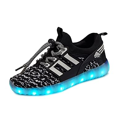 MIKA HOM LED Light Up Shoes for Kids Multi-Color LED Lighting Shoes with USB