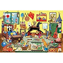 Bits and Pieces - 2000 Piece Jigsaw Puzzle for Adults - Bobby's Room - 2000 pc Animals and Toys Jigsaw by Artist Rosiland Solomon