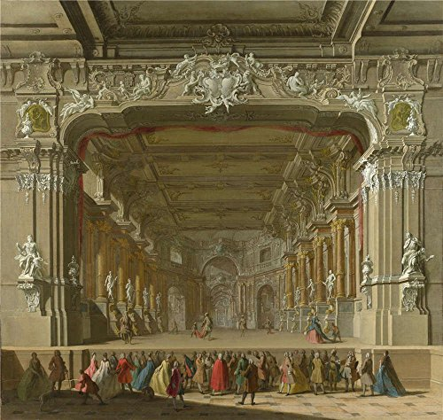 Polyster Canvas ,the High Quality Art Decorative Prints On Canvas Of Oil Painting 'Italian North The Interior Of A Theatre ', 30 X 32 Inch / 76 X 80 Cm Is Best For Study Decor And Home Decor And Gifts