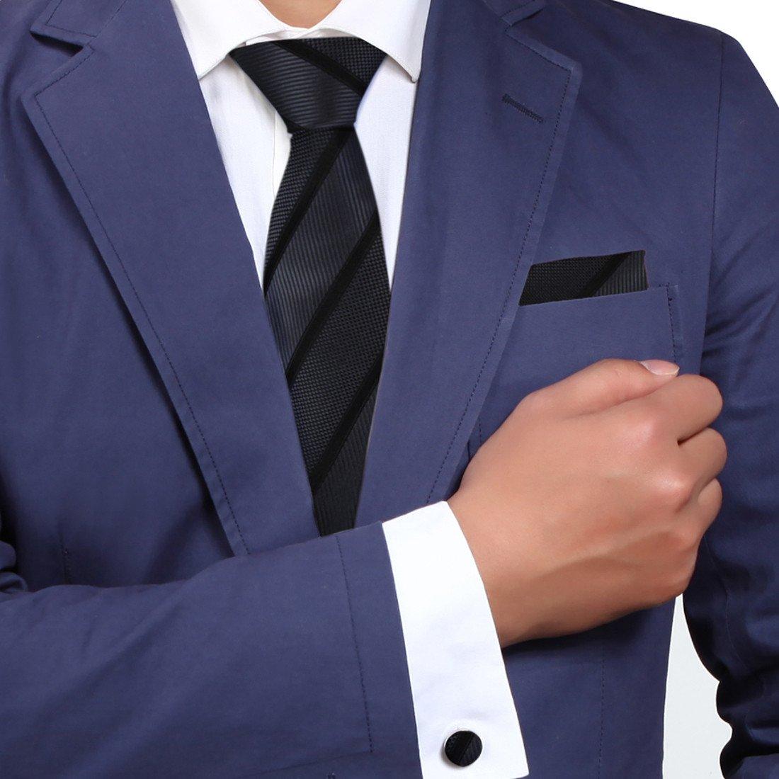 H7020 Cornflower Blue Stripes Great Shop Gift Items Mens Silk Tie 3PT By Y/&G