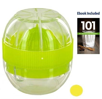 nvoleo mejor Exprimidor de Limón y Lima con Exprimidor Manual (1 eBook incluido),