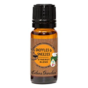 """Edens Garden Sniffles & Sneezes""""OK For Kids"""" Essential Oil Synergy Blend, 100% Pure Therapeutic Grade (Child Safe 2+, Cold Flu & Congestion), 10 ml"""