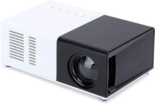 Opinión sobre Ccylez Mini proyector, máquina de proyección LED portátil en Blanco y Negro con Soporte, proyector de 100-240 V 1080p, proyector LED de 24 a 60 Pulgadas, proyector en Varios Idiomas(1)