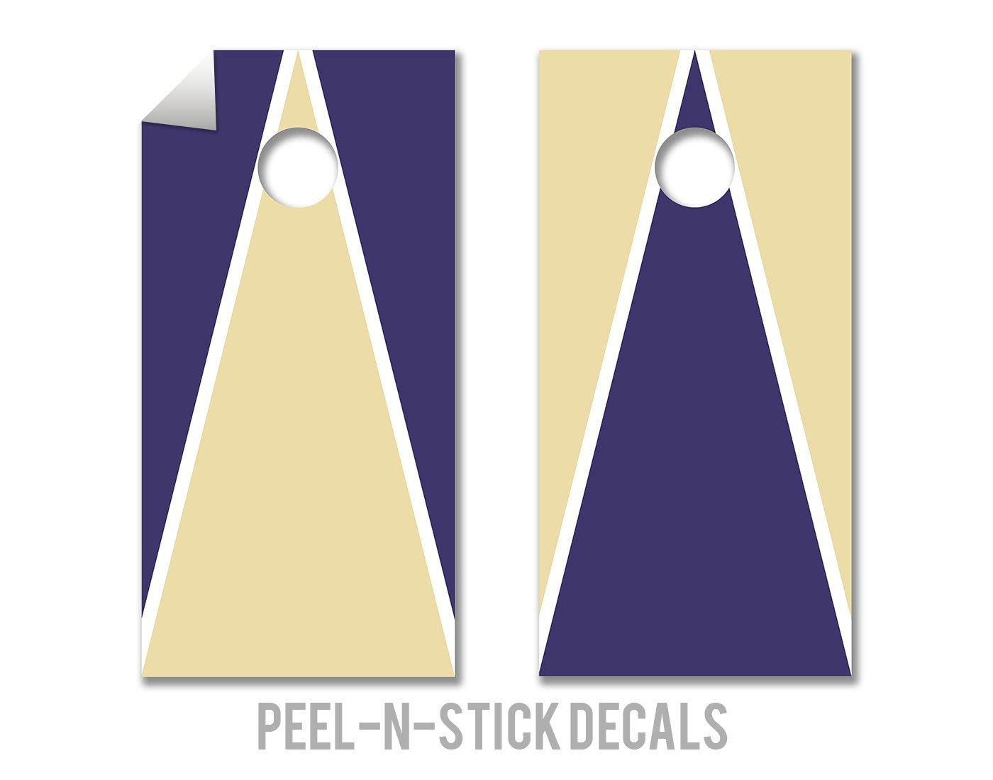 Purple & Gold - Cornhole Crew - ACA Regulation Size Cornhole Board Decals by The Cornhole Crew