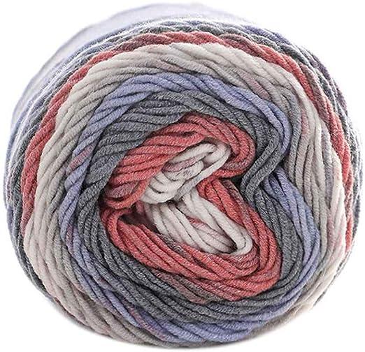 100 g/Bolas de Colores del Arco Iris de 5 Capas de Hilados de ...