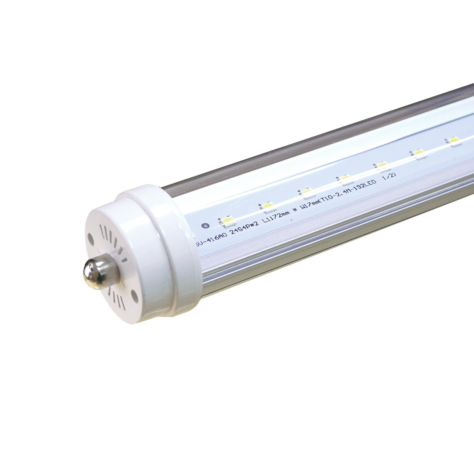 FiveStar Lights T12 8FT LED Light Tube 40W(90W equivalent), 5000K, 3600 Lumen Brightness, ETL Listed, Dual-ended Power, Energy Saving Fluorescent Tube Replacement (1, T12 8FT 40W)