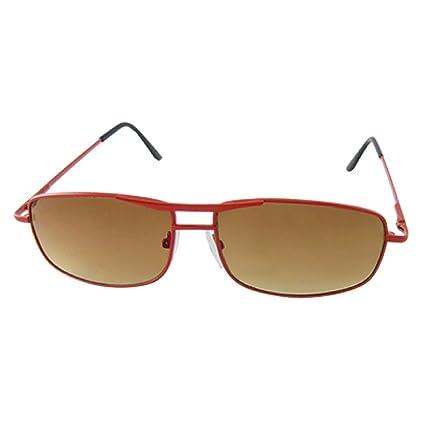 Niños Lente de Brown Doble puente rojo Gafas de sol de metal ...
