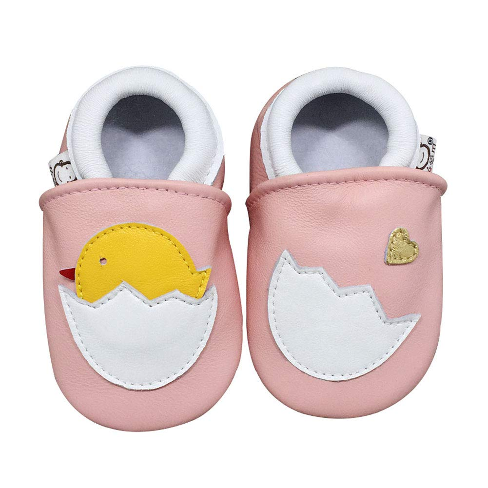 M/&A Soft Leather Baby Shoes Slippers Infant and Toddler Crib Shoes with Suede Soles