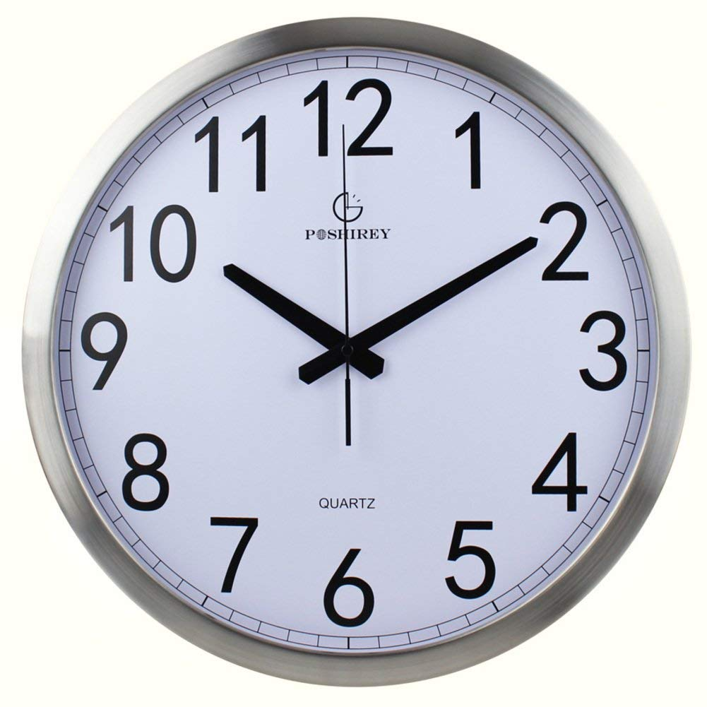 TSL LTS Sleek, Minimalist and Creative Living Room Wall Clock, Quiet Bedroom Clock Wall Clock (Color : A, Size : 12inch) by LTS By LPS