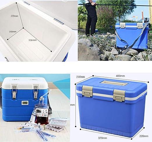 Azul Al Aire Libre Portátil 12 Quart Caja del Refrigerador del ...