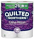 Quilted Northern Ultra Plush Toilet Paper, 6 Mega Rolls, 6 = 24 Regular Bath Tissue Rolls
