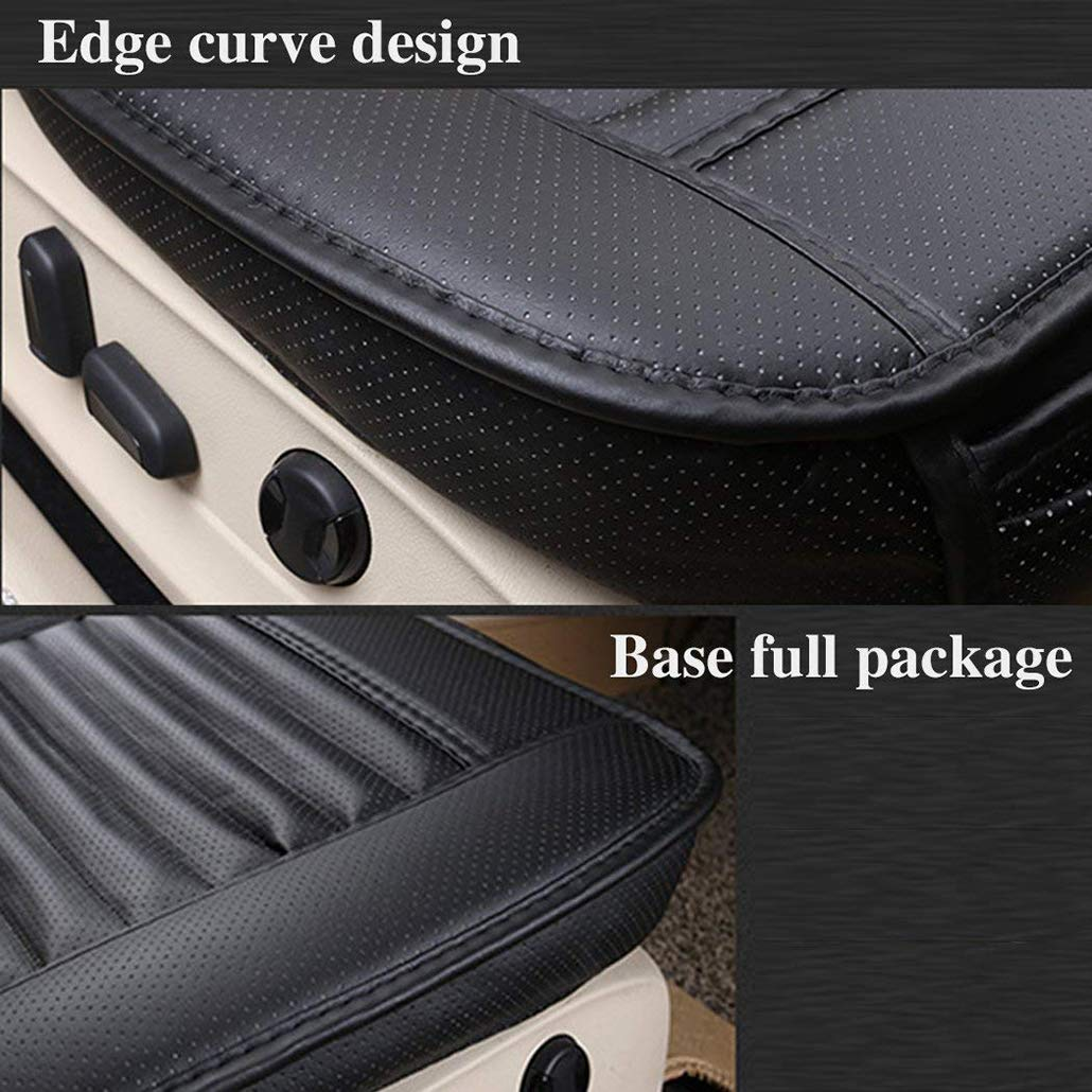 1pcs CHIAE Car Interior Seat Cover PU Leather Edge Full encircled Breathable Bamboo Charcoal for Auto Car Supplies Car seat Cushion Protection Cushion Auto Accessories Orange
