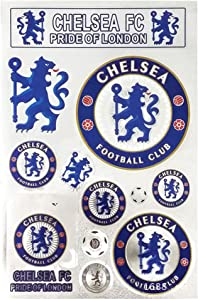 Louishop Football Club Stickers Laptop Stickers for Car Motorcycle Bicycle Luggage Graffiti Patches Skateboard Wall Decals (Chelsea)