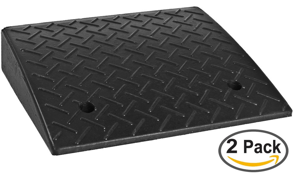 4.3'' Heavy Duty Rubber Curb Ramp2 Pack