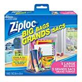 Ziploc Big Bags Storage with Double Zipper Large - 5 Count