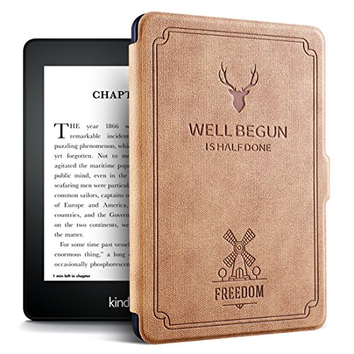 Dream Wings Slim Case for Kindle 558 Smart Cover Screen Protective with Auto Sleep/Wake Function,fit for Kindle 558 Kindle 8th 2016 Version (Camel) by Dream Wings