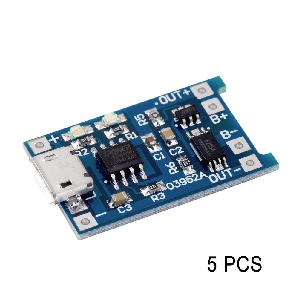 ROKOO 1/2/5 / 10Pcs TP4056 5V 1A USB 18650 Mó dulo de protecció n de la baterí a del Cargador de baterí a de Litio 1ve5fj0sz4zc6bp0D04