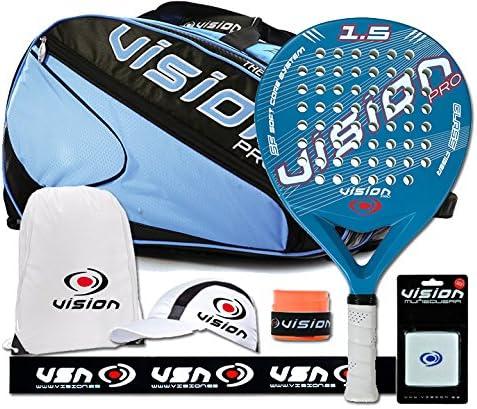 Vision Pack de Padel con Pala Milky Blue 1.5 paletero y 6 ...