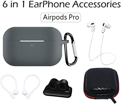 Amazon Com Airpods Pro Silicone Case 6 In 1 Multifunction