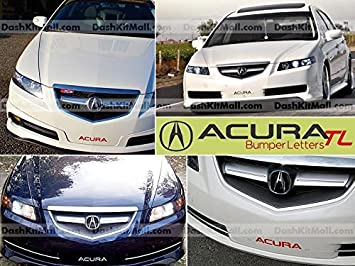 Acura TL Front Bumper Letter Insert Not - 2006 acura tl accessories