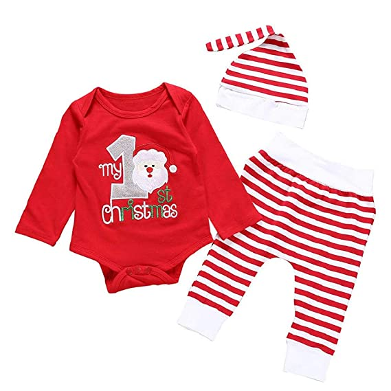 QUICKLYLY Conjuntos De Navidad para Bebé Niña Niño Infantil ...