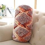 WDDH Creative 3D French Bread Plush Lumbar Pillow Back Cushions Chair Seat Sofa Back Stuffed Plush Toy Throw Pillow Nap Mats Doll Kids Children Gifts Home Decor