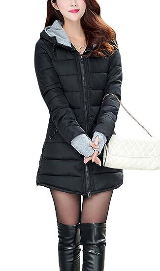Femme D hiver Slim Ghope Parka Avec Veste Manteau RfvdwSEdq 553d56897ab