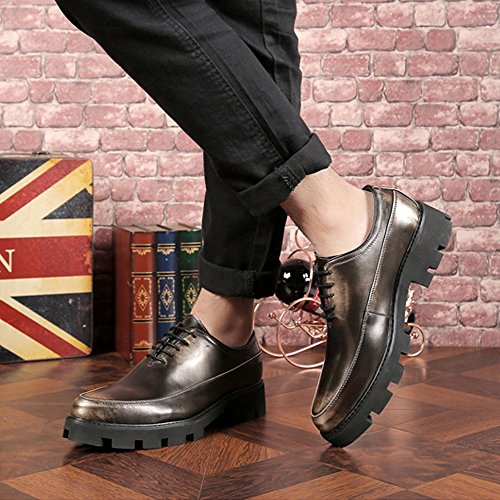 pelle Brass in Lace EU forte Outsole casual uomo da 39 Color Scarpe Oxfords Up PU Jiuyue Pelle Foderato Scarpe Uomo 2018 Nero Matte shoes Dimensione traspirante Prom Fodera 0wqAn87p