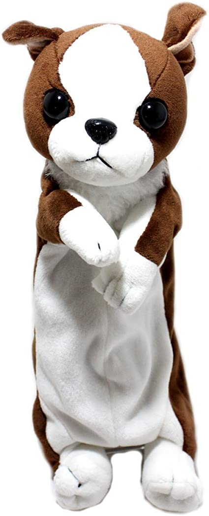 Estuche de peluche con forma de animal para niños y niñas, color Border Collie: Amazon.es: Oficina y papelería