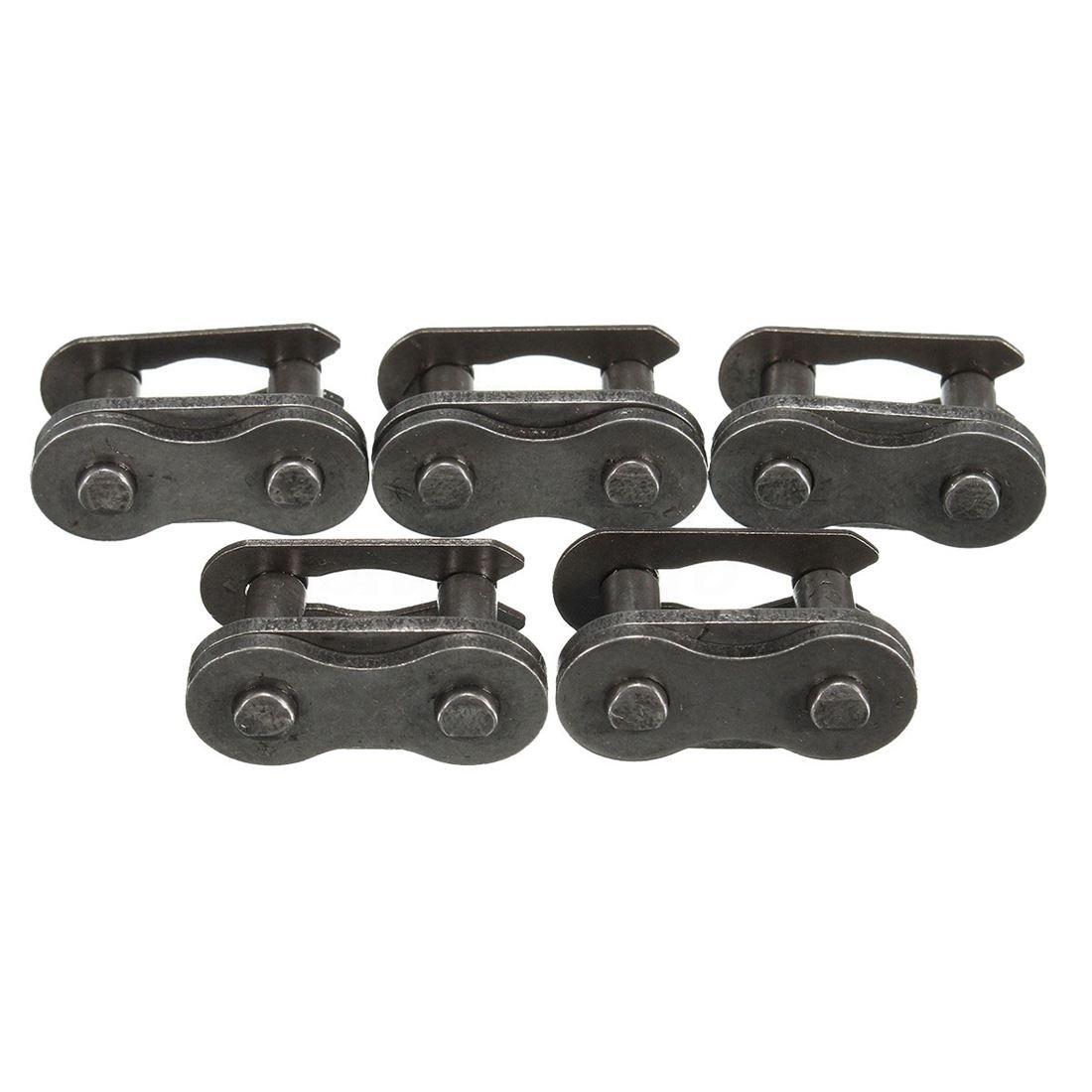 SODIAL(R) 5 Sets 415 Chain Master Link 80cc 2-Stroke Motorized Bike GAS ENGINE Parts