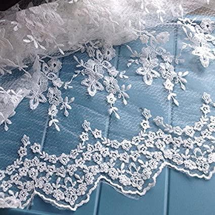 Amazon Com 49 Width 3d Floral Embroidery Lace Fabric By The Yard