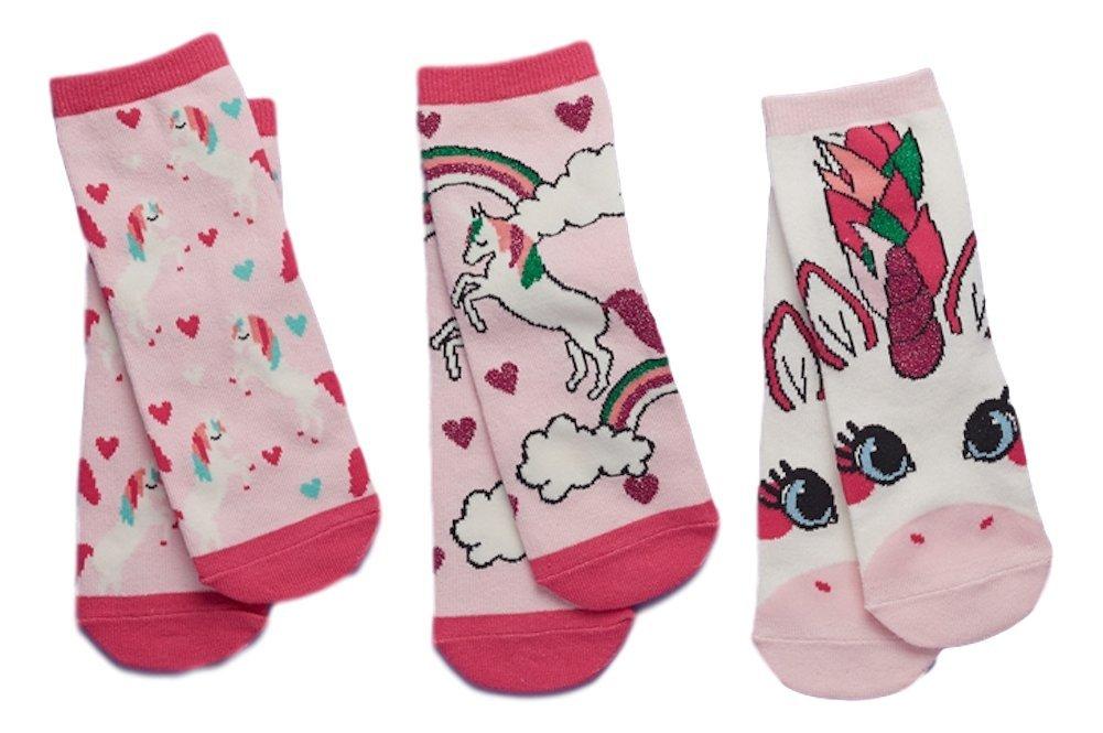 Two's Company S/3 Unicorn Gift Box Children Sock