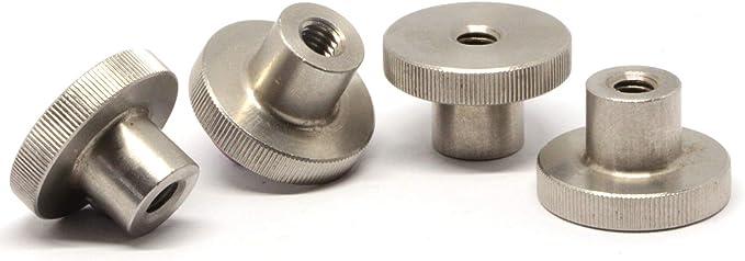 SC-Normteile // NIRO VA rostfreier Edelstahl A1 2 St/ück niedrige Form - M6 - R/ändelmuttern SC467 - DIN 467