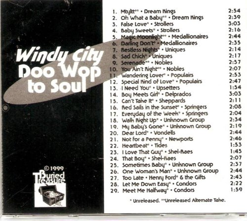 Windy City Doo Wop to Soul Volume 1-various Artists Cd