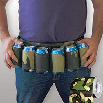 Camouflage Beer Can Belt with a Free Roll of Camouflage Toilet ...