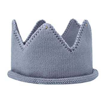 a686ef0a0 Itaar Baby Boy Girl Crown Hat Birthday Warm Soft Knit Crochet Beanie Warm  Cap Multicolor