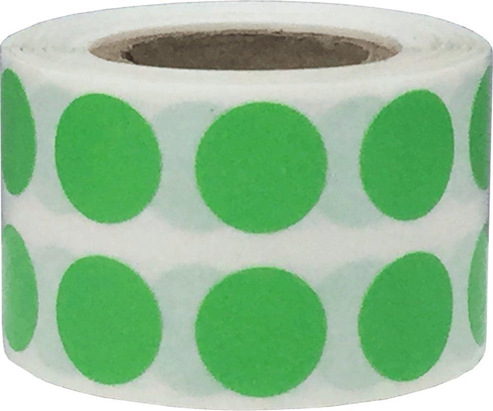 Chiaro Verde Cerchio Punto Adesivi, 13 mm 1/2 Pollice Rotondo, 1000 Etichette su Rotolo InStockLabels.com