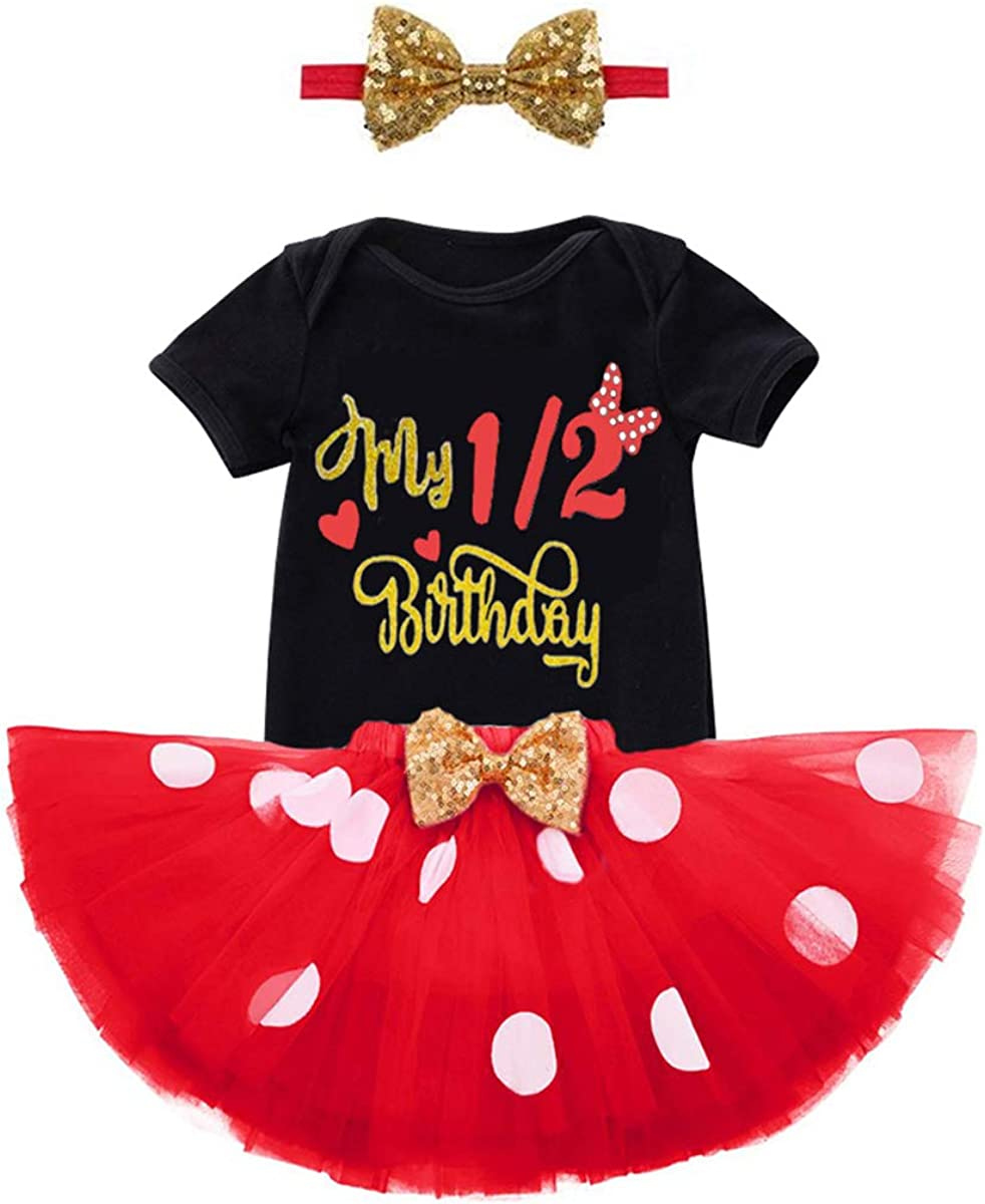 Red and White Polka Dot Tutu Outfit Ribbon Trim Tutu Outfit Girls Birthday Outfit Ruffled Corset Top with Matching Ribbon Trim Tutu