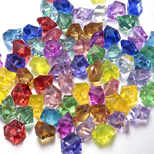 Multi-Colored Acrylic Diamonds Pirate Treasure Jewels for Costume Stage Props/Party Decorations Supplies/Wedding Decorations and Vase Fillers-300 Pcs by (Minecraft Costumes Kids)