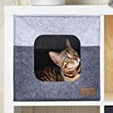 FEXTTEN Thick Felt Cat Cube Cave for IKEA Shelf - Easy Travel Cat Cube Bed is Machine Washable - Foldable Cat Houses for Indoor Cats