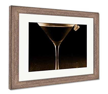 Amazon.com: Ashley Framed Prints Espresso Martini, Wall Art Home ...