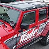Wade 72-51066 Front and Rear Skytop Combo for Jeep