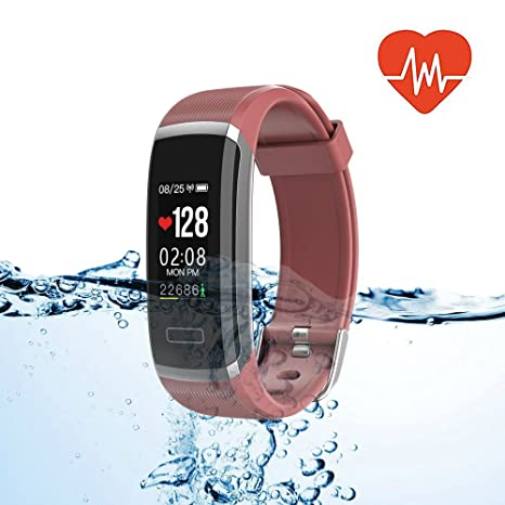 Bluetooth Smart Watch with Heart Rate/Sleep Monitor Sports Fitness Tracker Watch Smart Band Pedometer