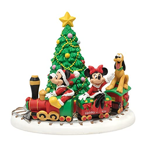 department 56 disney village miniature display piece mickeys holiday express - Disney Christmas Decorations