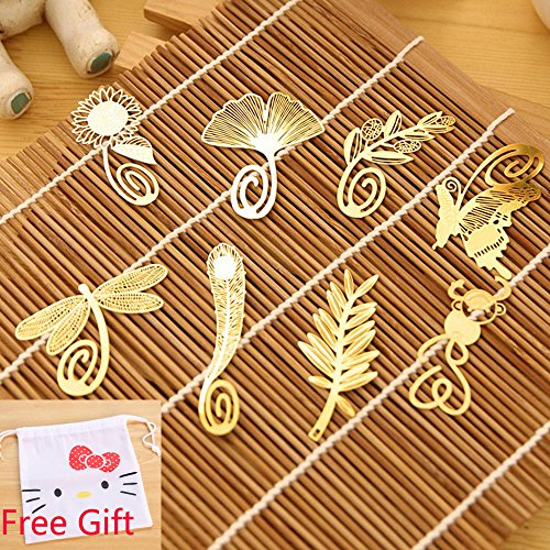 yueton Butterfly Dragonfly Sunflower Bookmarks