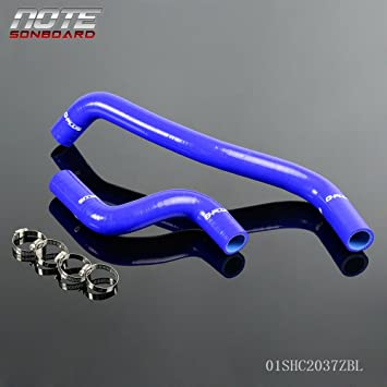 Silicone Radiator Hose For Toyota Starlet Ep82 Glanza Gt Turbo 4e-fte Blue