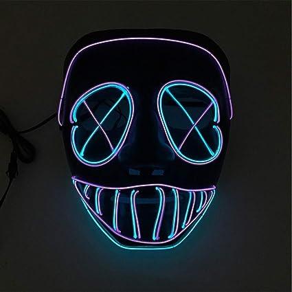 GRSPRTL Traje Cosplay máscara Facial EL Cable de luz LED ...