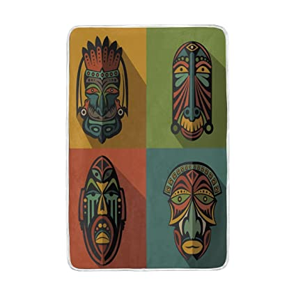 Amazon.com: LORVIES Set Of African Ethnic Tribal Masks Super ...
