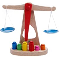 HittecH Montessori Early Dvelopment Educational Baby Scale Funny Balance Game Wooden Toy