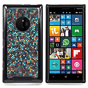- glitter gold bronze blue clean awesome - - Modelo de la piel protectora de la cubierta del caso FOR Nokia Lumia 830 RetroCandy